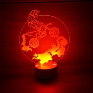Lámpara motorista de metacrilato