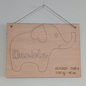 Banderin elefante sencillo
