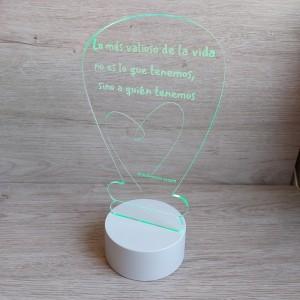 Lámpara personalizada bombilla
