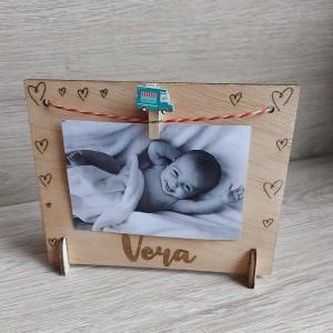 Marco de fotos personalizado en madera