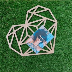Corazón geométrico para fotos
