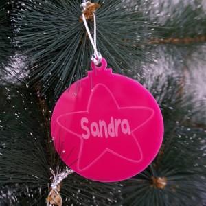 Bola de Navidad con estrella