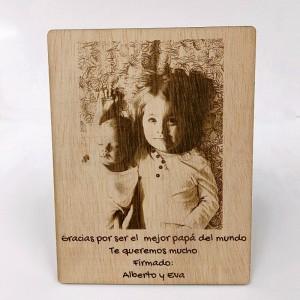 Foto grabada en madera...