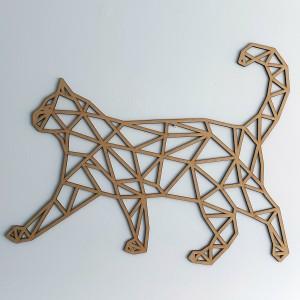 Gato geométrico andando