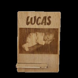 Foto grabada en madera y...