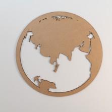 Triptico Mundo en madera sostenible. 45 cmØ