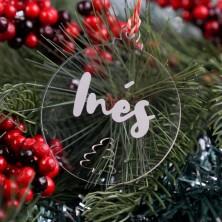 Bola de Navidad con abeto