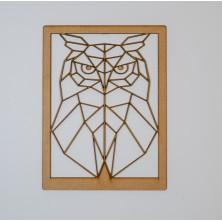 Buho geométrico con marco