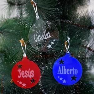 Bola de Navidad con estrellas