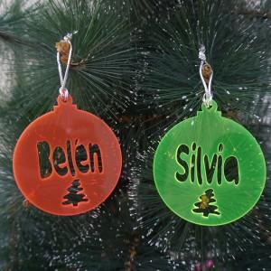 Bola de Navidad con abeto...