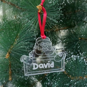 Adorno navideño con Papá Noel